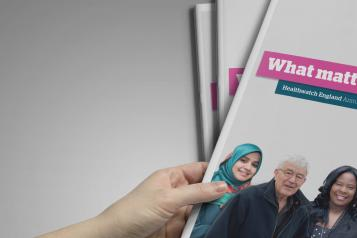 Healthwatch England Annual report cover 2017-18