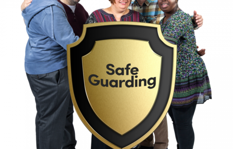 people with a safeguarding shield